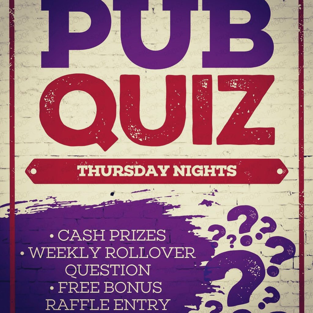 Thursday Night Pub Quiz