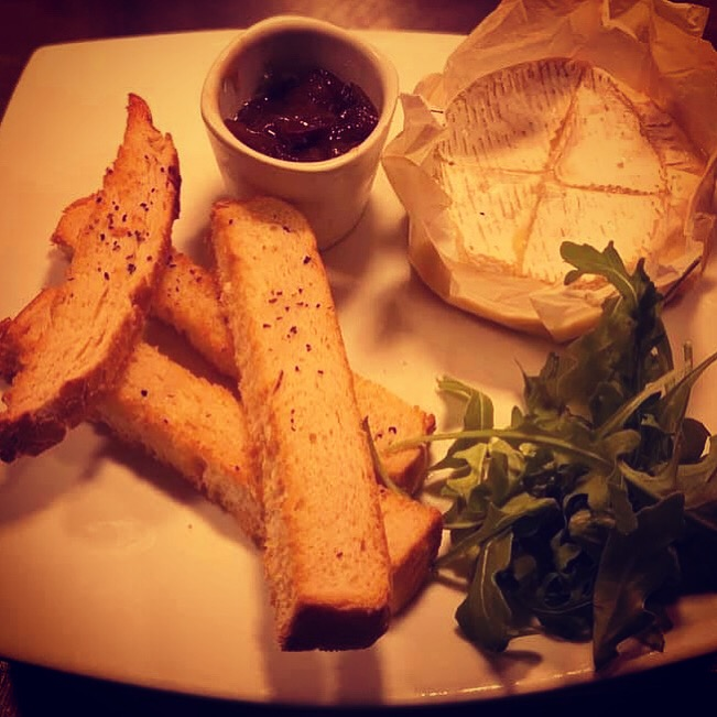 Baked Camembert with toasted Bloomer and Homemade Onion chutney